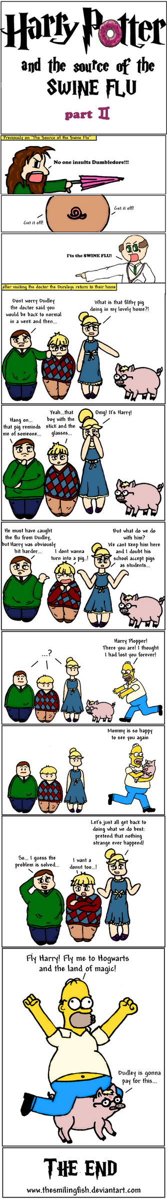 Harry Potter and the swine flu by TheSmilingFish