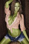 She Hulk in a Barn