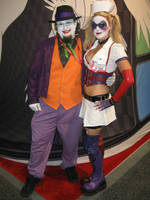Joker n Harley: Arkham Asylum by dragonduff