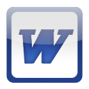 MS Word Dock Icon by kaew