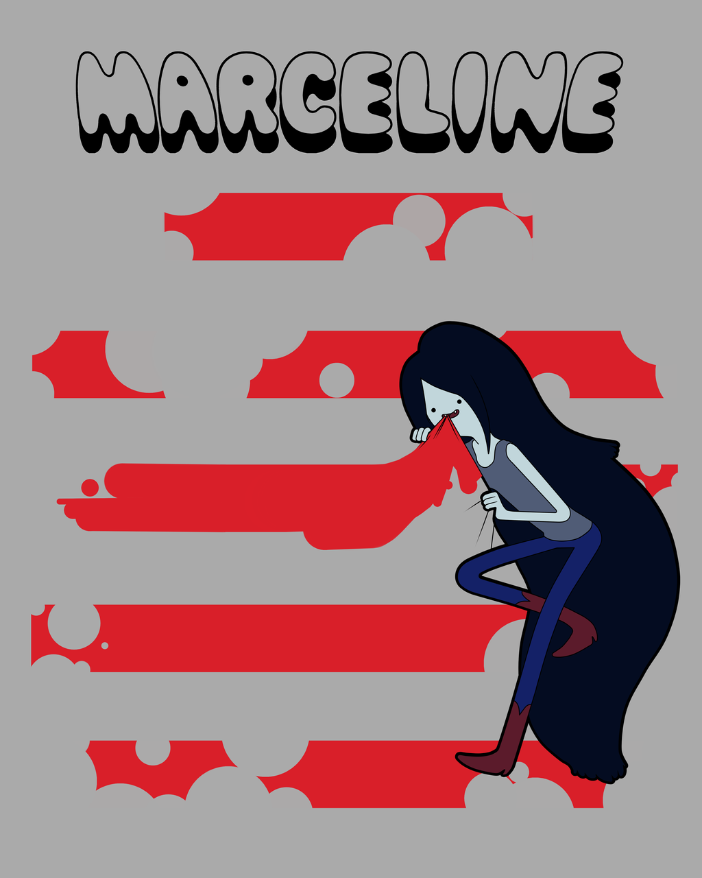 Marceline Stealing yo Stripes by VanillyCake