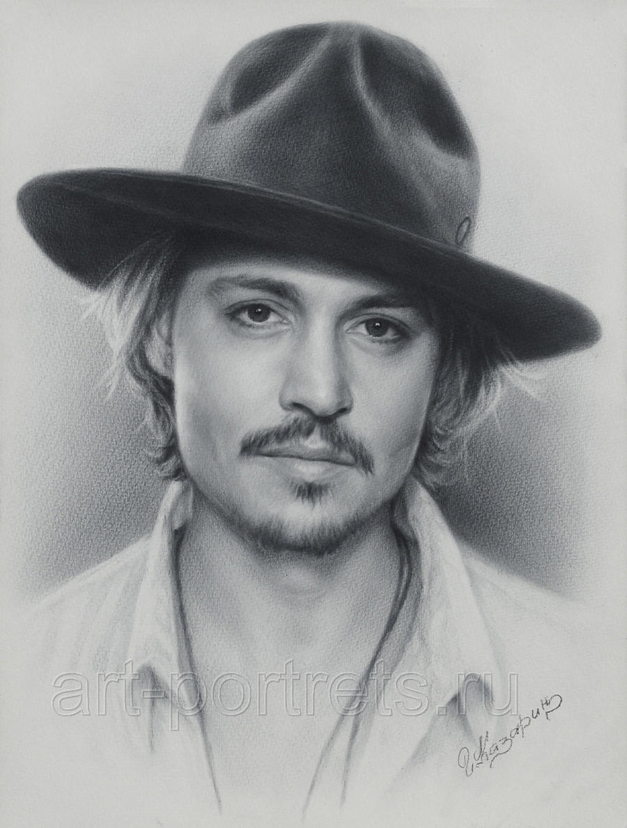 Johnny depp portrait by drawing portraits on deviantart for Basic portrait painting