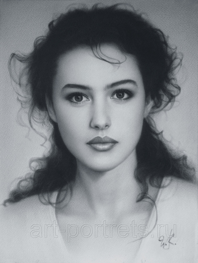 Drawing Monica Bellucci