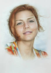 Simple portrait of a beautiful girl by Dry Brush