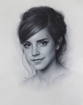 Emma Watson drawing portrait by DRY BRUSH