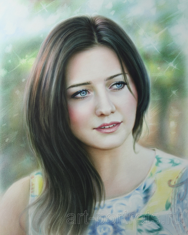 Portrait Drawing of beautiful girl by Dry Brush by Drawing ...