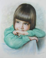 Portrait of little baby by Dry Brush by Drawing-Portraits