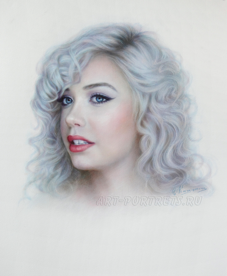Portrait Drawing of a beautiful girl Amanda Steele by Drawing