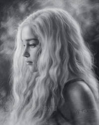 The beautiful blonde Emilia Clarke by Drawing-Portraits