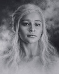 Portrait of the Khalessi by Dry Drush by Drawing-Portraits
