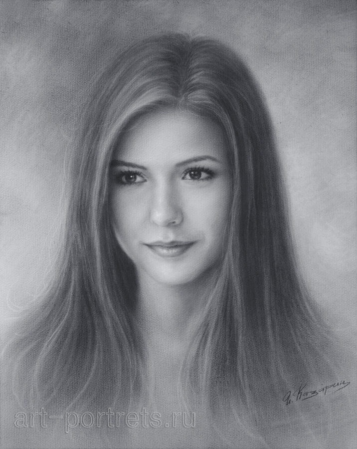 Nina Dobrev Drawing by Dry Brush. by Drawing-Portraits