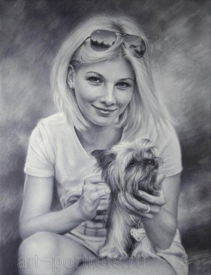 Фото девушки с собачкой 1 фотография
