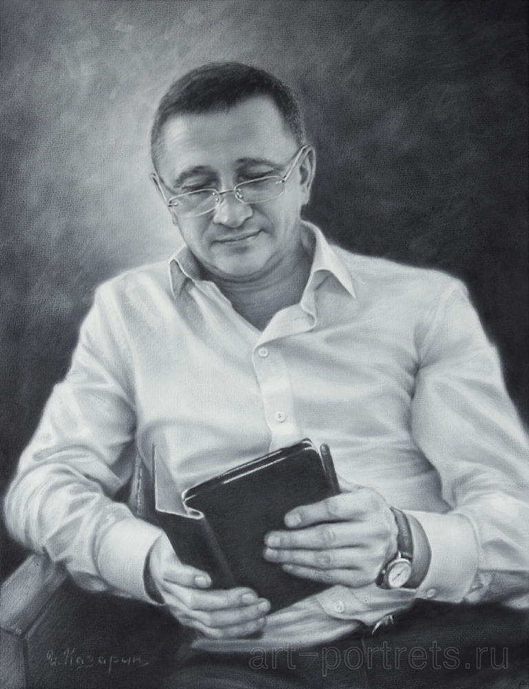 Black and white portrait of the modern man by Drawing-Portraits