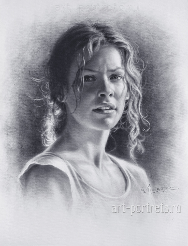 Scribble Drawing Portraits : Drawing a portrait of evangeline lilly by