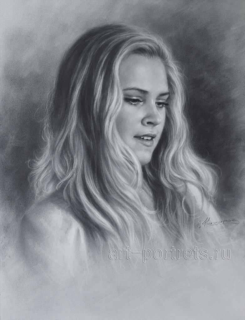 Eliza Taylor Drawing Portrait by Dry Brush by Drawing ...