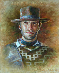 Clint Eastwood painting by Drawing-Portraits