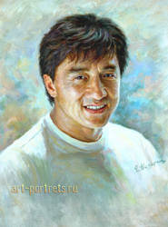 Jackie Chan Portrait Painting by Drawing-Portraits