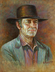 Henry Fonda Portrait Painting by Drawing-Portraits