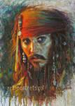 Johnny Depp Painting. Jack Sparrow