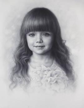 Drawing of a Little Beautiful Anastasia Knyazeva