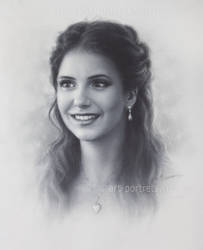 Nina Dobrev Drawing .