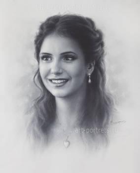 Nina Dobrev Drawing .