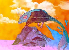 Mermaid rat in the twilight