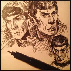 Spock (sketch) by Ognivik