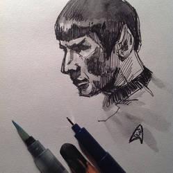 Spock (sketch 2) by Ognivik