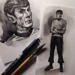 Spock (sketch 3) by Ognivik
