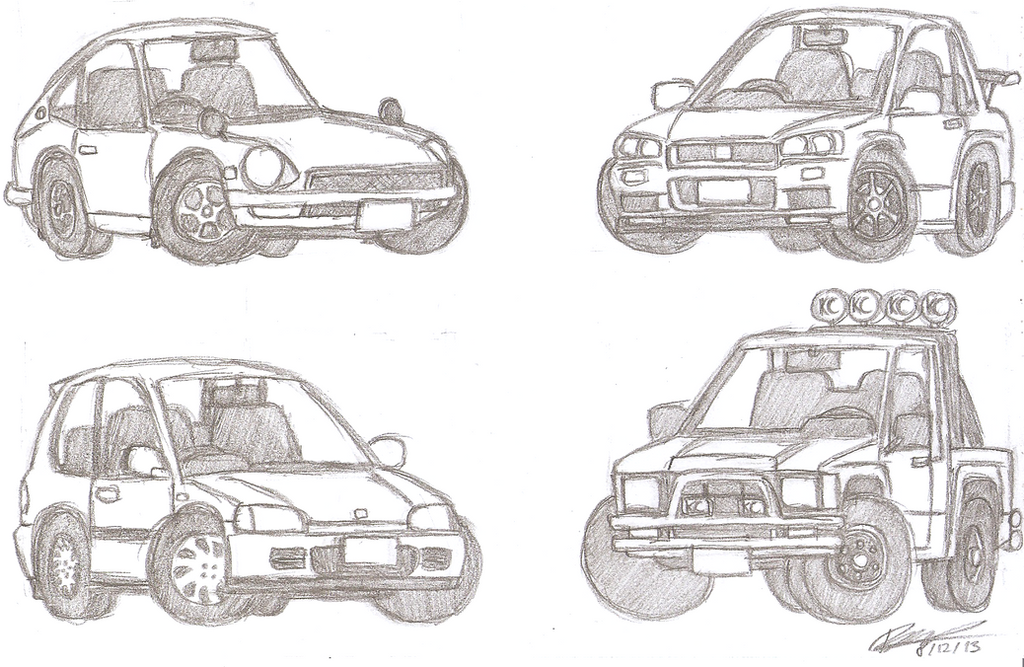 Chibi cars: Japanese edition by Bundi2408 on DeviantArt