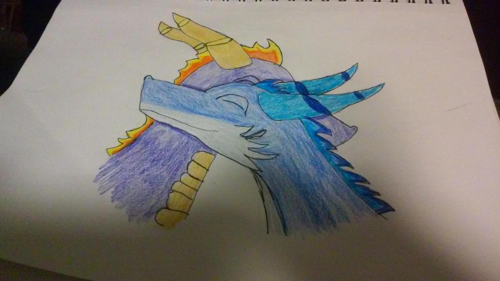 Spyro x my oc by HomlessDalek