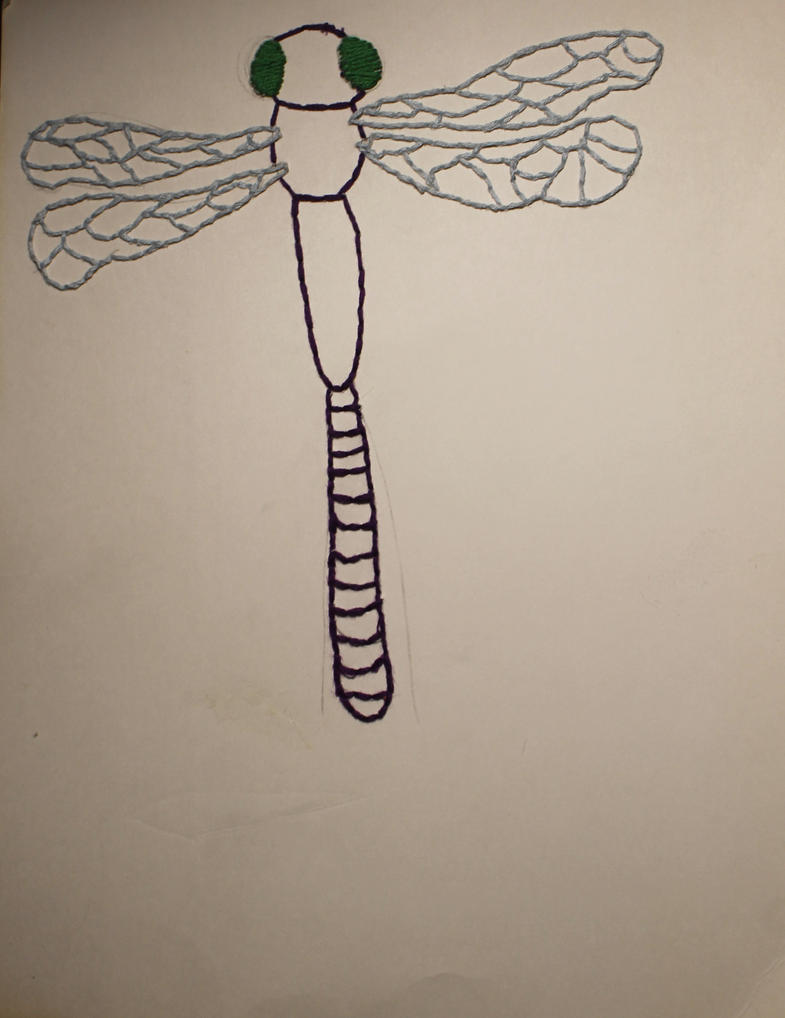Dragonfly Embroidery By Animedemon001 On Deviantart