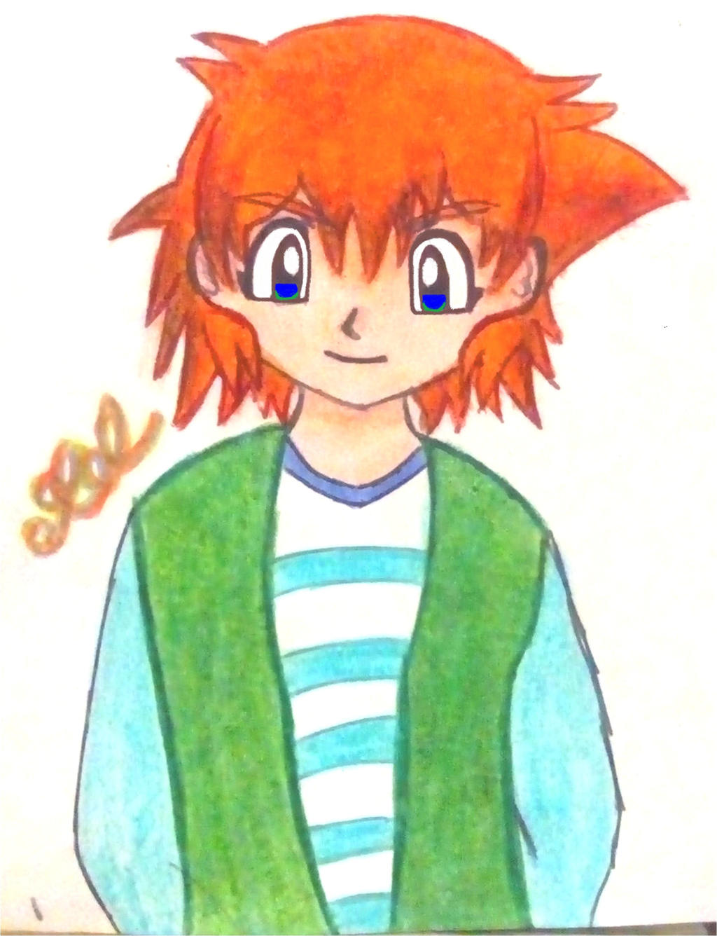 Pokemon Oc Jin Ketchum 1 Pokeshipping Fankid By