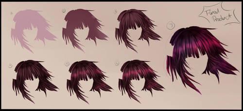 Hair Tutorial - Step by Step by ka-rael