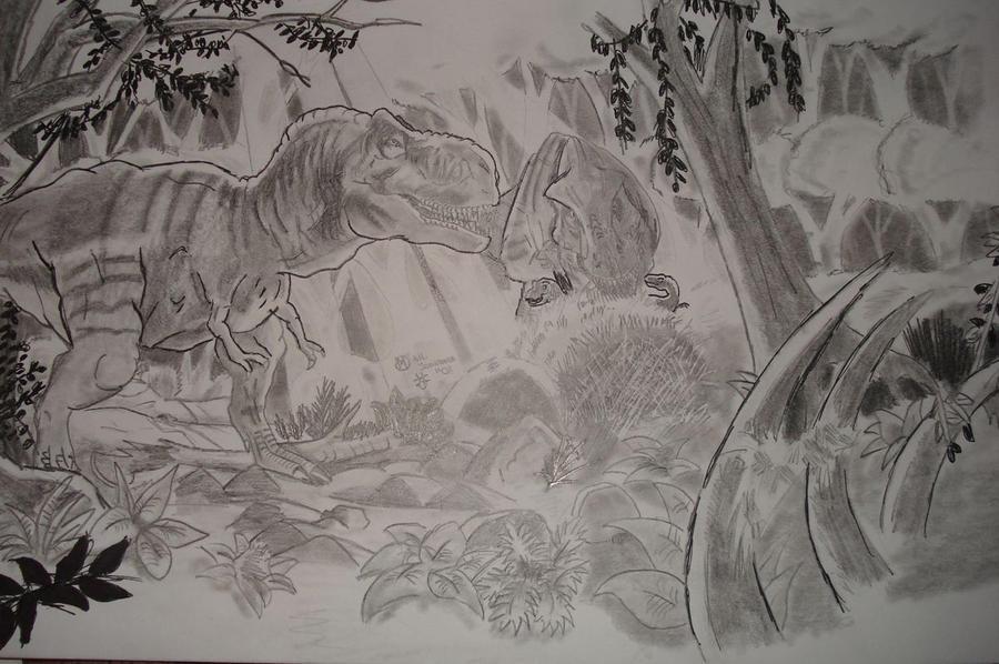 Tyrannosaurus Rex Nest by joker-kornstantine
