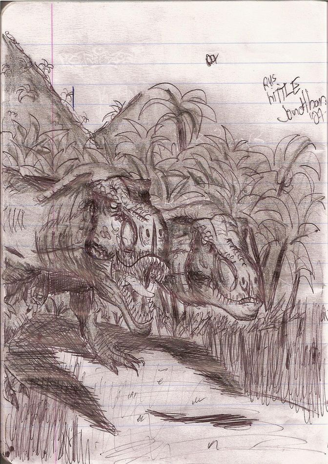 Tyrannosaurus on The Hunt by joker-kornstantine