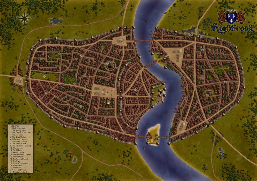 Highbrook - Fantasy Map by Pauldew