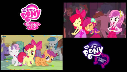 The Pony and Human Cutie Mark Crusaders
