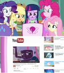 Twilight Watches Sunset Shimmer's YouTube Video