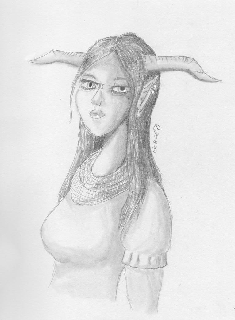Humble Beginnings for a Tiefling by Catflail