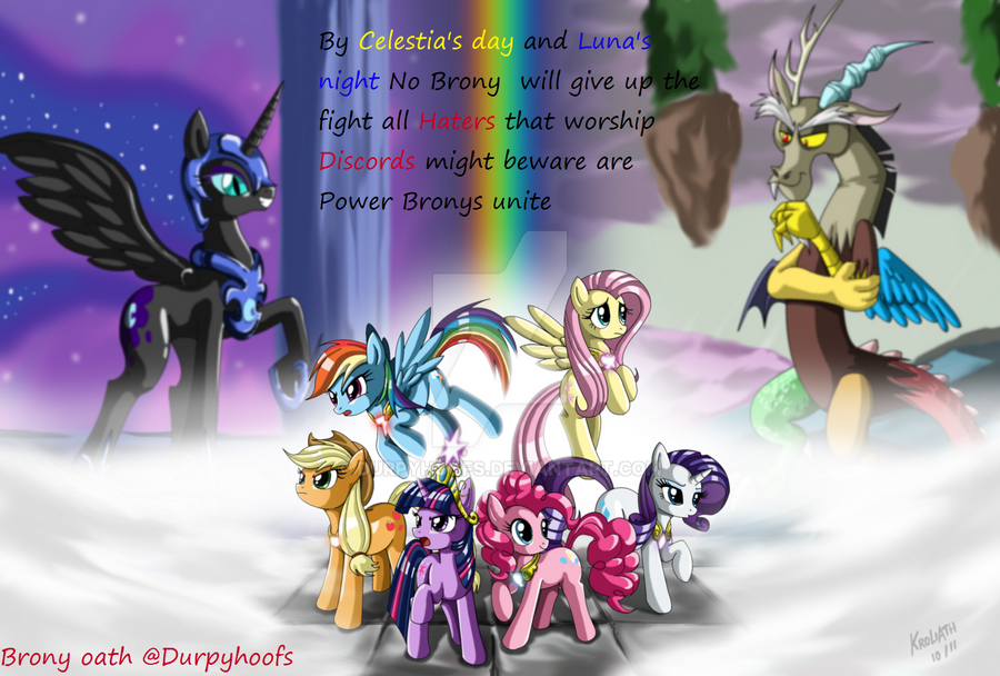 The Brony Oath by DurpyHoofs