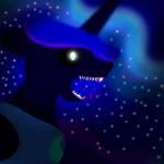 Nightmare Moon Screaming Blood