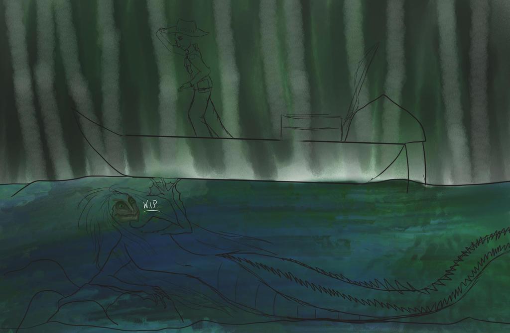 Swamp Mermaid WIP by Grimroof
