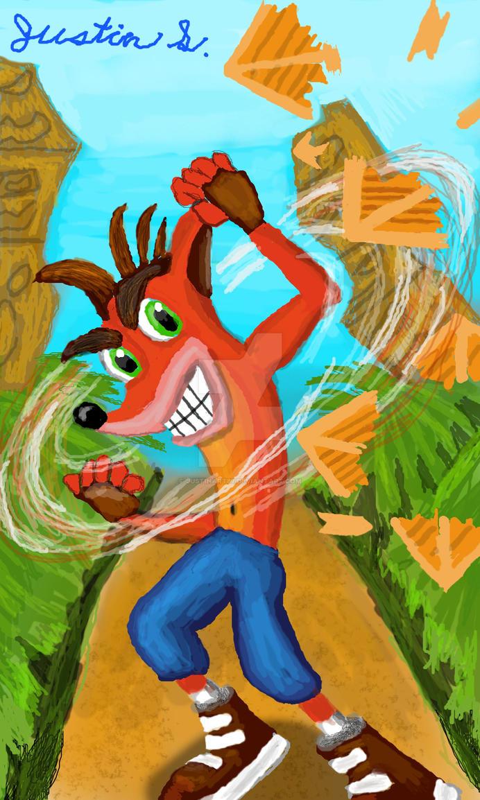 Crash Bandicoot Time Lapse by JustinArt87