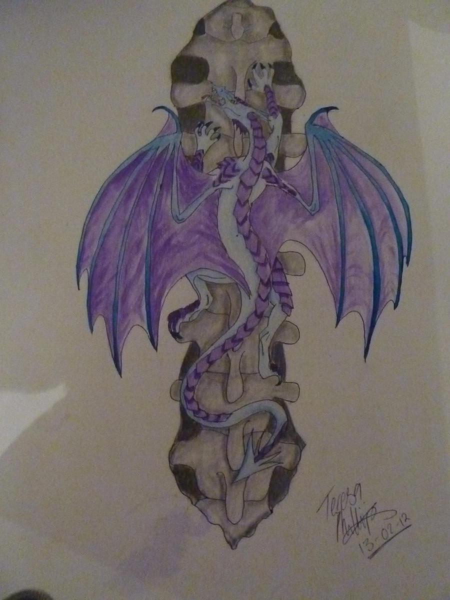 Tattoo Climbing Dragon by Evil-Von-Smiley