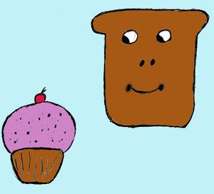 Cupcake Mopnster Toast by Toast-Mania-Club