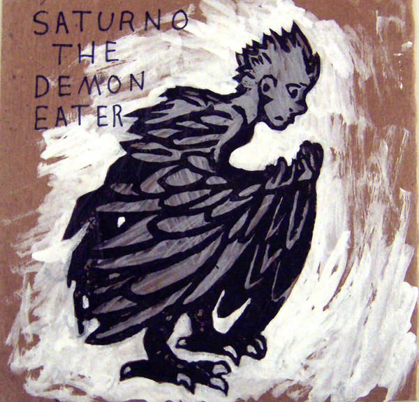 close up human/bird Saturno print on CD cover by JillyFoo
