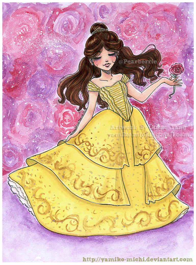Belle Sketch Beauty And The Beast By Yamiko Michi