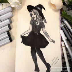 Witchy Sketch by yamiko-michi